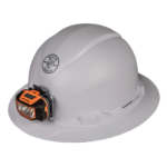 Klein Hard Hat, Non-vented, Full Brim Style with Headlamp – 60400/60406